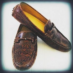 Martin Dingman Leather Driving Shoe Loafer Sz 12